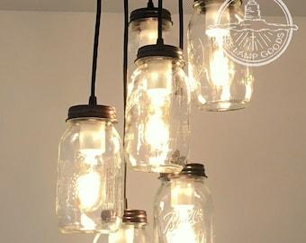 Mason jar lighting | Etsy