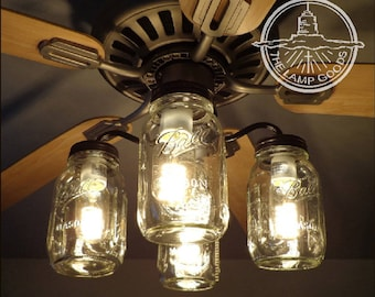 chandelier lighting kit. Flush Mount Ceiling Light Mason Jar FAN KIT Only With New Quarts -Farmhouse Chandelier Lighting Fixture Kitchen Bathroom Remodel Track Kit