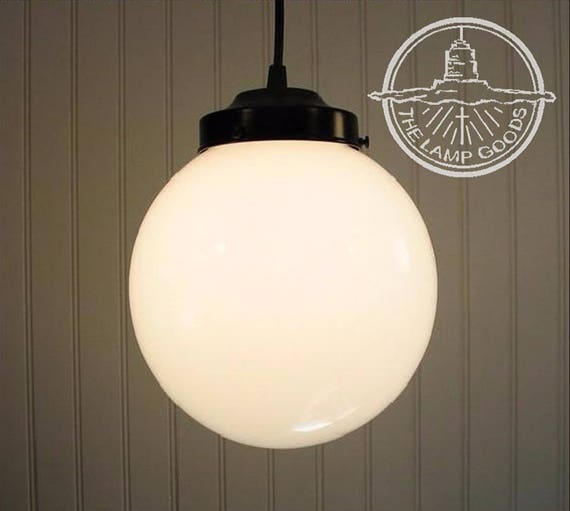 Winterport Milk Glass Pendant Light Large Globe