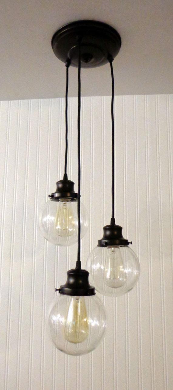 Biddeford II  CHANDELIER Light Trio Glass Ceiling Flush Mount Lighting Bathroom Kitchen Fixture Farmhouse Mid-Century Track Fan LampGoods