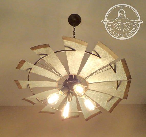 Windmill chandelier lighting fixture original farmhouse etsy image 0 aloadofball Images