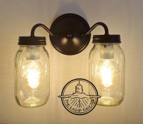 Canning Jar Double Wall Sconce New Quarts Mason Jar Lights Flush Mount Farmhouse Fixture Lighting Chandelier Ball Rustic Pendant Lampgoods