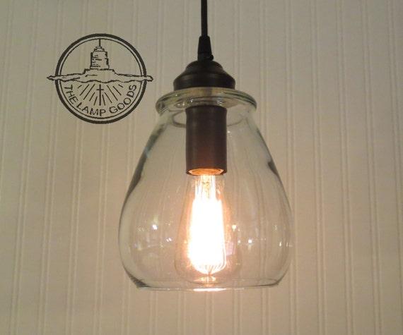 Verona Glass Pendant Light With Edison Bulb Chandelier Ceiling Flush Mount Lighting Fixture Kitchen Dining Bathroom Lamp Modern Lampgoods