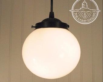 Winterport II. Milk Glass PENDANT Light Fixture - Ceiling Flush Mount Lighting Chandelier Farmhouse Kitchen Track Fan Modern Lamp Goods Sale