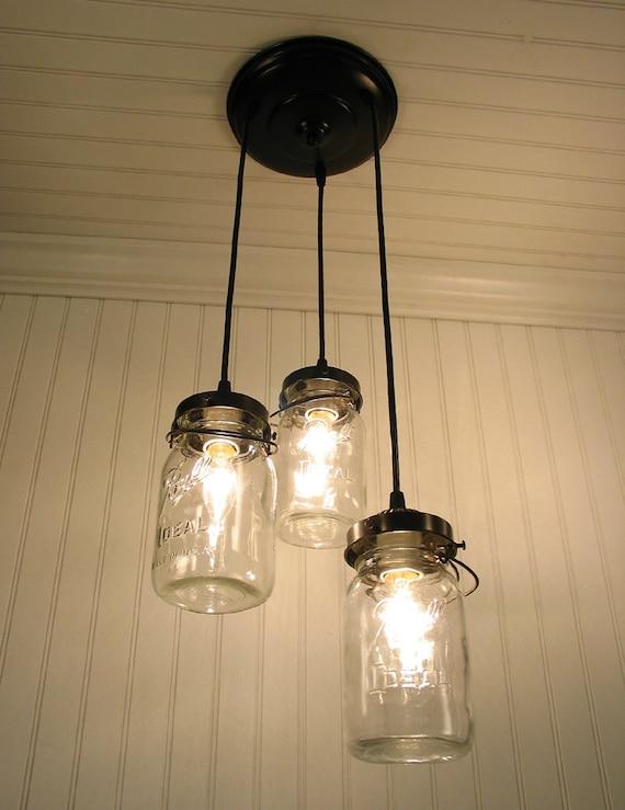 Mason Jar Light Fixture Vintage Canning Jar Chandelier Trio Flush Mount Ceiling Lighting Fan Farmhouse Pendant Track Bathroom Lampgoods