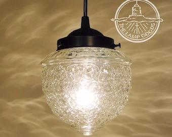 Island Falls II. Clear Glass PENDANT Lighting - Ceiling Lighting Chandelier Fixture Flush Mount Kitchen Bathroom Lamp Pendants by LampGoods