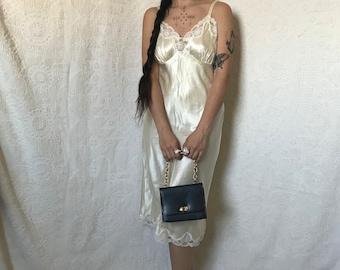 156d034fd vintage Guy Laroche slip dress   lingerie   sleepwear   nightgown   lace  trimmed slip   slip on dress   full slip