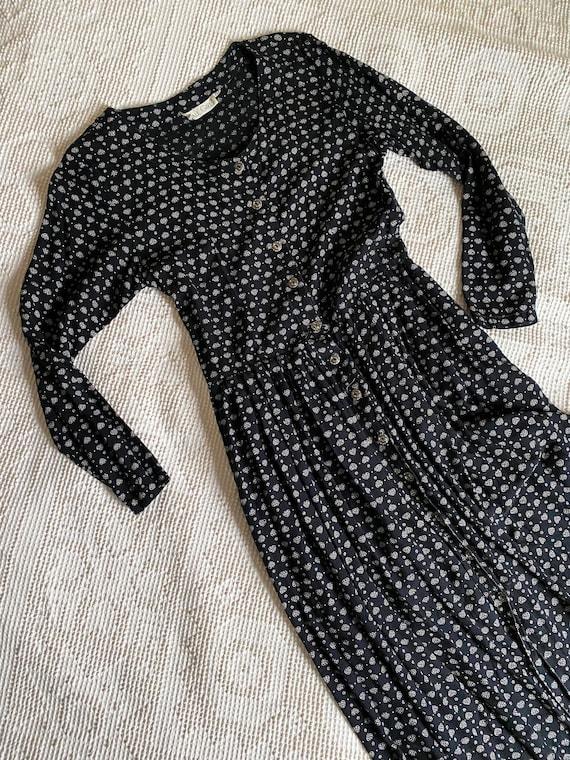 vintage 90s maxi long sleeve dress | boho cottagec