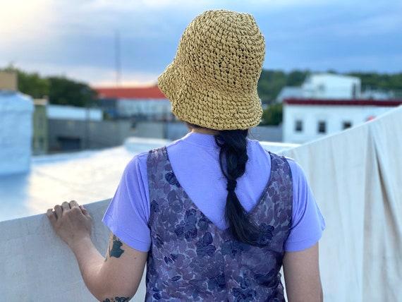 SALE vintage straw bucket hat / boonie hat / fish… - image 4