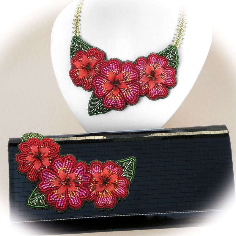 Suitable for complete beginners! FLORAL ELEGANCE Bead Embroidery Kit