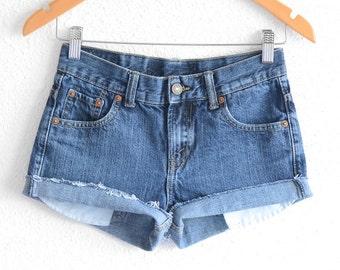 Levis High Waisted Shorts size 0 Shorts Vintage Levi High Waisted Jean Shorts High Waist Shorts Denim Cutoffs xs waist 27