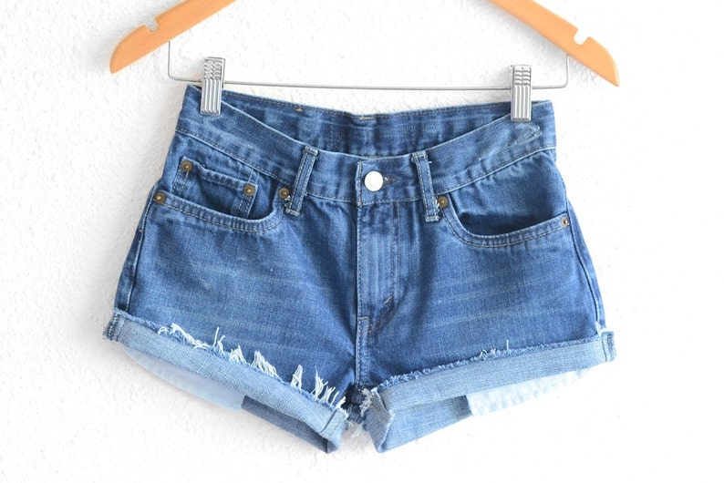 6cf2a1c2 Levis High Waisted Shorts Distressed Levi Shorts Vintage Levi | Etsy
