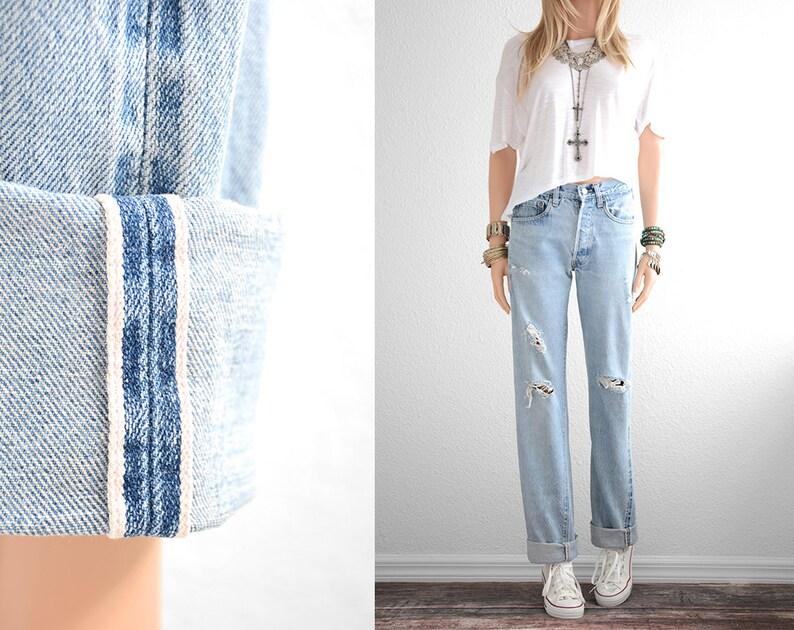 Redline Vintage Womens 28 Line Levis Denim High Waist 501 Jeans Distressed Levi Red Boyfriend bf67yYvIgm