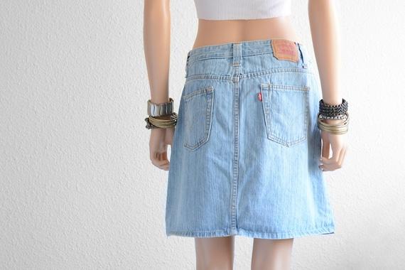 Levis High Waisted Skirt Vintage Levi High Waist D