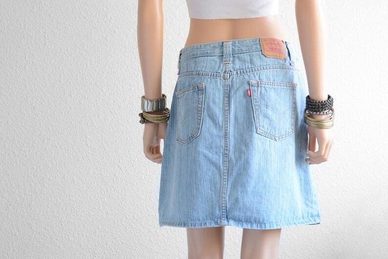 cfb5ffdc47 Levis High Waisted Skirt Vintage Levi High Waist Denim Skirt | Etsy