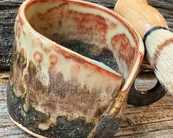 Shaving Mug Set - Mug, Brush, Olive Oil Soap with cocoa butter