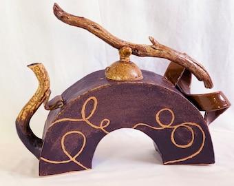 Driftwood Teapot  hand-built stoneware