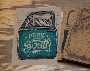 Pride of the South - Block Print