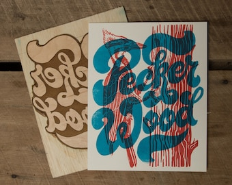 Pecker Wood - Block Print