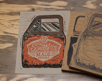 Southern Made Motors - Block Print