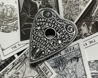 Ouija Planchette Pin & random 4 pick Tarot Stickers
