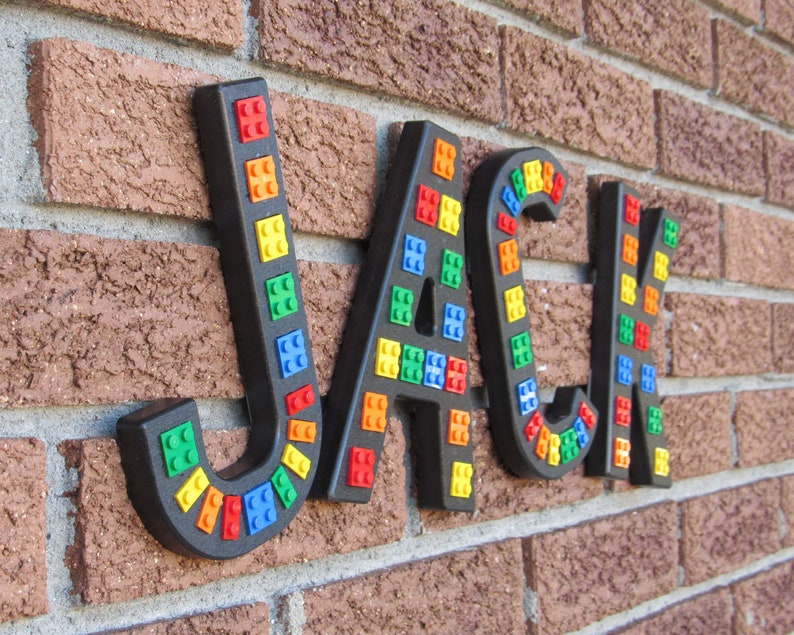 Black Brick Script Wall Letters embedded with image 0