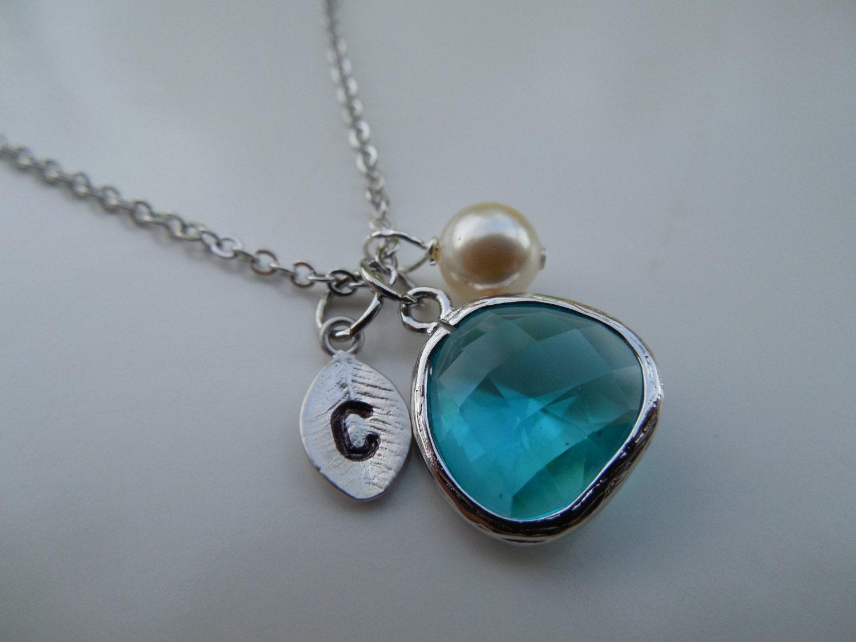 december birthstone necklace gold or silver blue topaz etsy. Black Bedroom Furniture Sets. Home Design Ideas