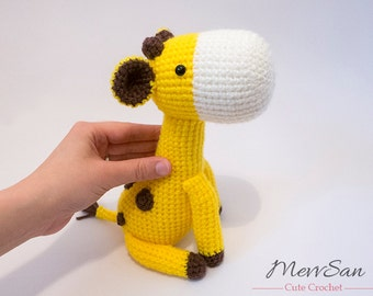 MADE to ORDER - Amigurumi Giraffe - crochet giraffe softie, cute crochet amigurumi plush, crochet animal toy, amigurumi safari animal