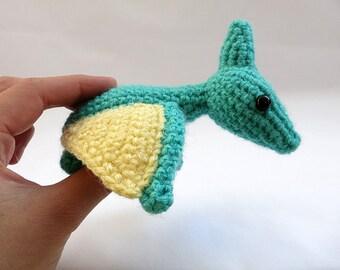 MADE to ORDER- Amigurumi Pterodactyl Dinosaur - amigurumi dinosaur plush, crochet dinosaur softie, amigurumi dinosaur toy, cute crochet dino