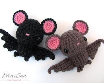 Crochet PATTERN PDF - Amigurumi Bat - amigurumi pattern, halloween crochet vampire bat, crochet animal plush, children's toy, softie