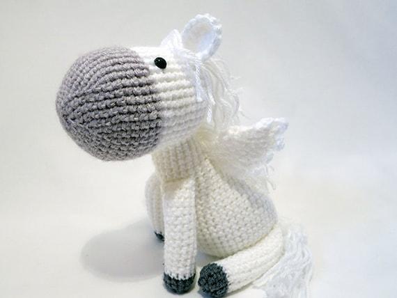 Crochet Pattern Pdf Amigurumi Pegasus Amigurumi Pattern Etsy