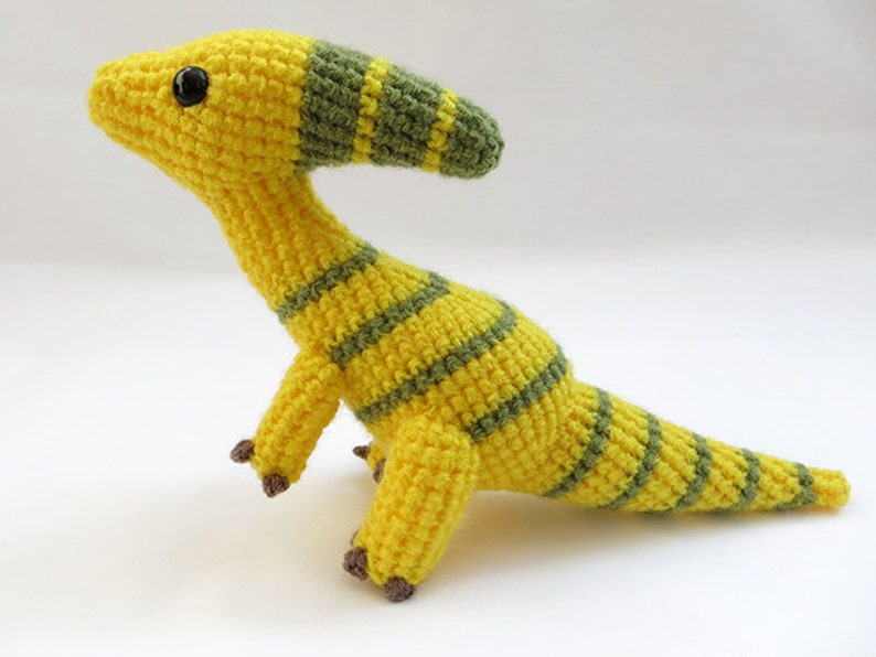 Crochet Pattern Pdf Amigurumi Dinosaur Parasaurolophus Etsy