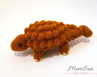 Crochet PATTERN PDF - Amigurumi Ankylosaurus Dinosaur - amigurumi dinosaur pattern, crochet dinosaur, amigurumi pattern dinosaur toy, softie