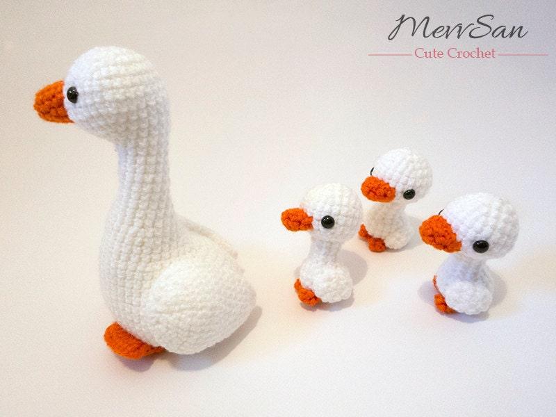 Crochet PATTERN PDF Amigurumi Goose crochet goose bird   Etsy