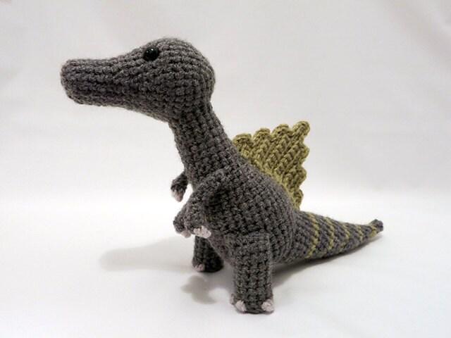 Crochet PATTERN PDF Amigurumi Dinosaur Spinosaurus cute   Etsy