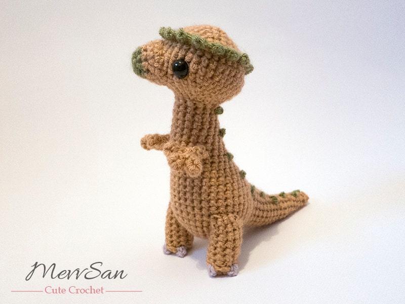 Crochet PATTERN PDF Amigurumi Dinosaur Pachycephalosaurus | Etsy