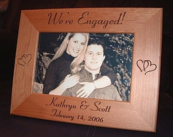 Engaged Photo Frame Etsy
