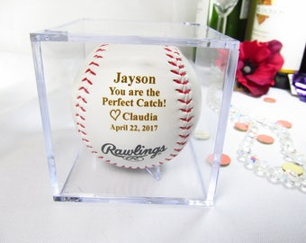 Wife To Husband Gift Boyfriend Gifts First Anniversary Valentines Baseball Lovers Love Note For Him Bride Groom