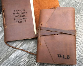 leather journal etsy
