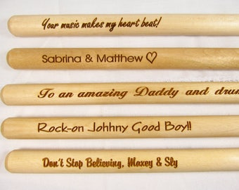 vic firth engraved drumsticks 5a personalized engraved drumsticks custom gifts for drummers gifts for musicians drummer accessories