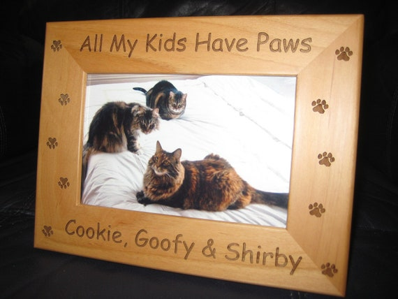 Cat Lover Gift Personalized Frame PTPF005 Picture Frame Pet Picture Frame