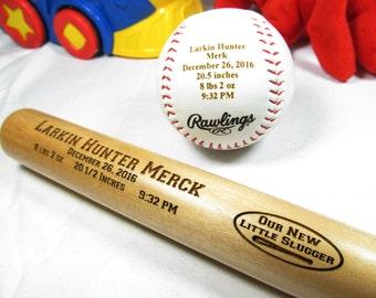 Baby boy baseball etsy personalized engraved baby keepsake bat baseball baby announcement baseball bat baby boy gifts negle Images