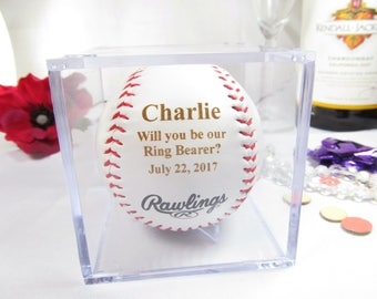 Personalized Ring Bearer Proposal Gifts Baseball, Will You Be Our Ring Bearer, Ring Bearer Invitation, Baseball Theme Wedding, Ring Security