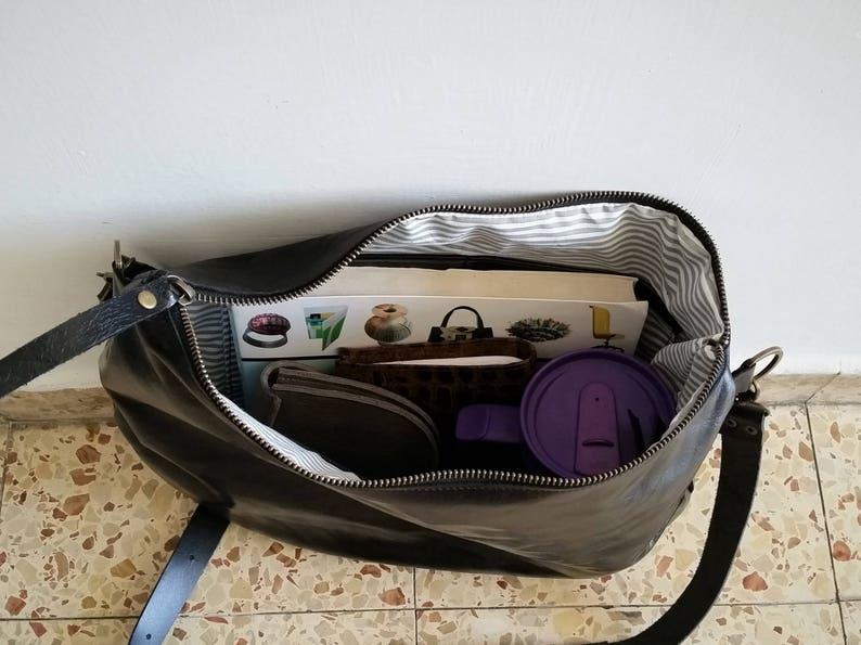 Shoulder bag Brown leather bag Cross-body bag