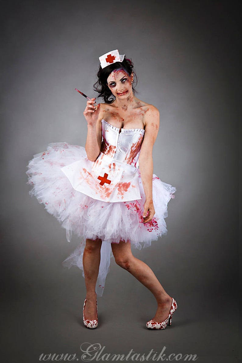 Size Small Bloody Nurse Costume Burlesque Ready To Ship Etsy