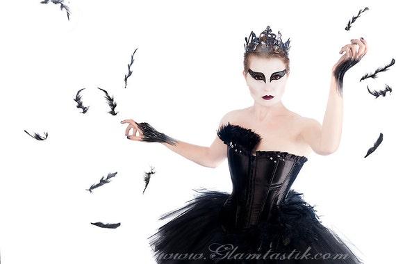 Benutzerdefinierte Größe Black Swan Ballet Kostüm Burlesque tutu