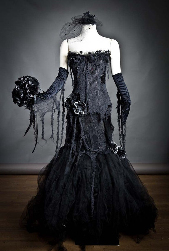 Items Similar To Custom Black Vampire Zombie Mermaid Style