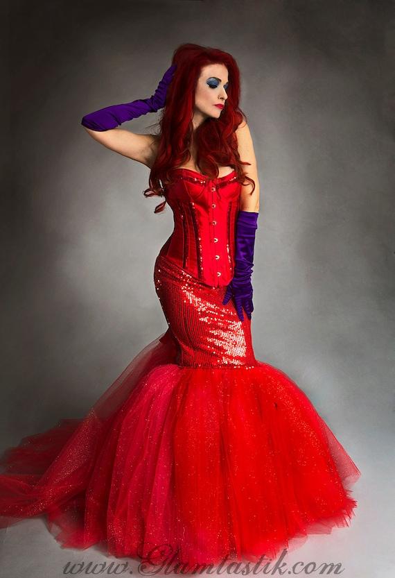 Custom SizeRed sequin mermaid style sparkle tulle prom dress | Etsy