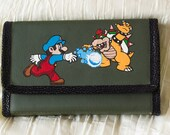 3DS XL Hard Case Hand Painted with Mario and Bowser