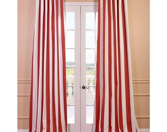 Image result for RED AND WHITE STRIPE CURTAINS